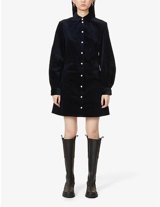 Samsoe & Samsoe Moonstone stretch-organic cotton-corduroy mini dress