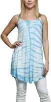 Turquoise Tie-Dye Stripe Sleeveless Tunic