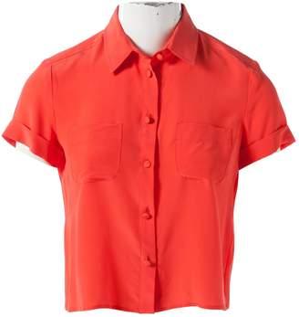 RED Valentino Orange Silk Top for Women