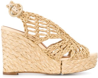 Paloma Barceló Woven Style Wedge Heel Sandals