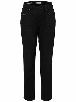 Selected Women's Slffrida Hw Mom Lash Jeans W Noos Straight