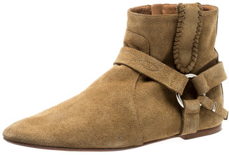 Isabel Marant Light Brown Suede Ralf Gaucho Ankle Boots Size 41