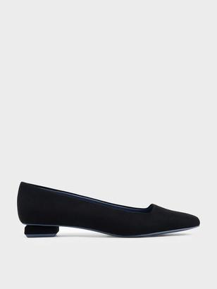 Charles & Keith Textured Square Toe Ballerina Flats