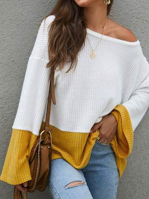 Goodnight Macaroon 'Hayley' Waffle Knit Bicolor Top (2 Colors)