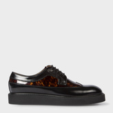 Paul Smith Women's Black Leather 'Madlin' Shoes With Tortoiseshell Panels