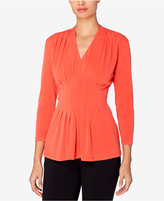 Catherine Malandrino Catherine Rea Pleated Fit & Flare Top