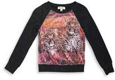 Jessica Simpson Girls 7-16 Leopard Sparkle Pullover