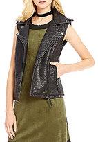 M.S.S.P. Faux-Leather Moto Vest