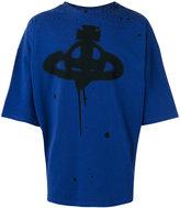 Vivienne Westwood oversized spray paint logo T-shirt - men - Cotton/Spandex/Elastane - S