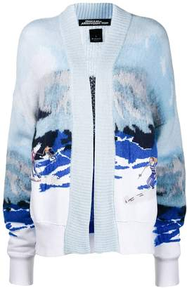 Pinko ski intarsia cardigan