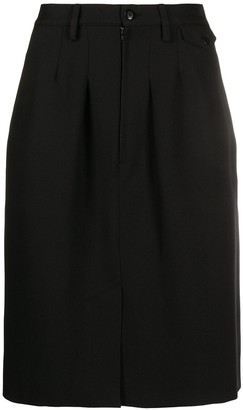 Random Identities Officer contrast panel skirt