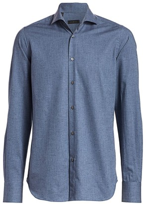Saks Fifth Avenue COLLECTION Donegal Textured Sport Shirt