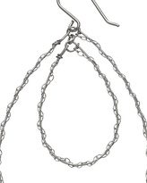 Silver Lace Hoops