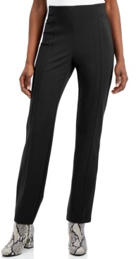 INC International Concepts Petite Seamed Straight-Leg Pants, Created for Macy's
