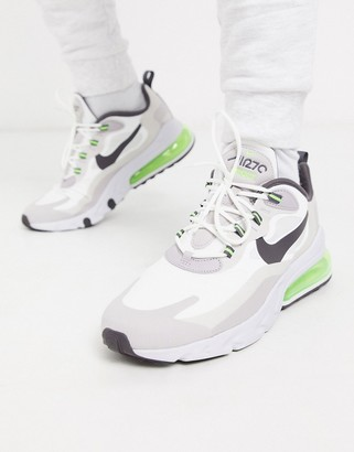 Nike 270 React sneakers in off white