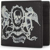 Alexander McQueen Amq coat of arms 8cc billfold