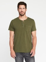Old Navy Garment-Dyed Jersey Henley for Men