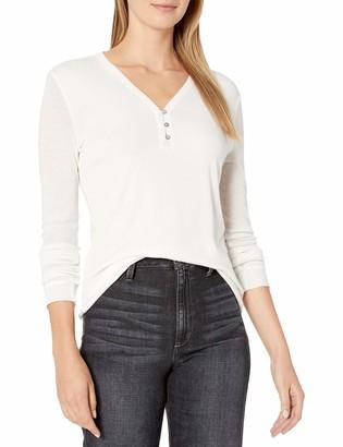 Splendid Women's Long Sleeve Henley Shirt