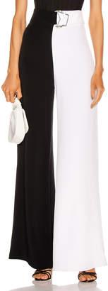 Cushnie High Waisted Wide Leg Pant in Black & White   FWRD