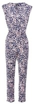 Dorothy Perkins Womens Izabel London Navy Ditsy Floral Print Jumpsuit, Navy