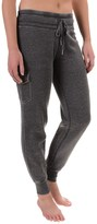 Steve Madden Distressed-Fleece Cargo Joggers (For Women)