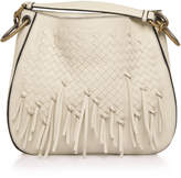 Bottega Veneta Charleston Loop Fringed Leather Hobo