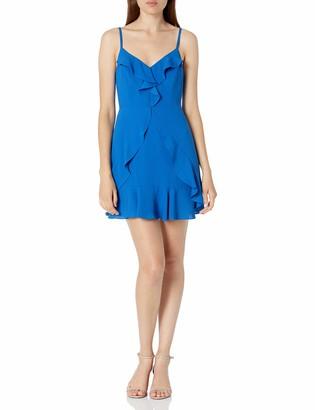 BCBGMAXAZRIA Women's Ruffled Sleeveless Mini Dress