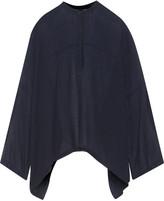 Helmut Lang Oversized draped wool and silk-blend gauze blouse