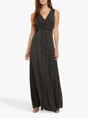 Phase Eight Katia Maxi Dress, Black/Bronze