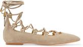 Pierre Balmain Suede lace-up point-toe flats