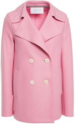 Harris Wharf London Double-breasted Studded Wool-felt Jacket
