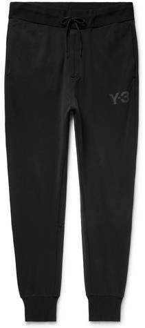 Y-3 Tapered Loopback Cotton-Jersey Sweatpants