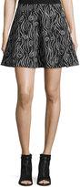 Opening Ceremony Laurel Swirl Flare Skirt, Black