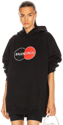 Balenciaga Large Fit Hoodie in Black   FWRD