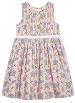 Ruby & Bloom Dobby Floral Pleat Dress