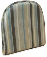 Taupe Blue With Leaves Kitchen Chair Pads