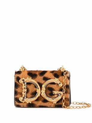 Dolce & Gabbana Animal Print Crossbody Bag
