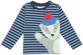 Jo-Jo JoJo Maman Bebe Badger Top (Baby) - Navy/Blue Stripe-6-12 Months