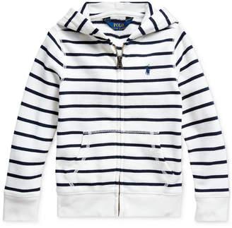 Polo Ralph Lauren Little Girls Striped Cotton-Blend-Terry Hoodie