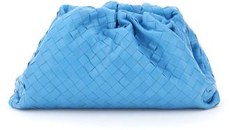 Bottega Veneta THE POUCH INTRECCIATO 15 OS Light blue Leather