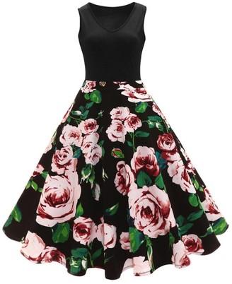 Pingtr Hepburn Vintage Dress
