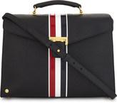Thom Browne Mrs. Thom striped pebbled leather shoulder bag