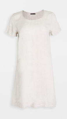 James Perse Back Pleat Shift Dress