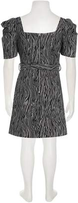 River Island Girls Zebra Print Skater Dress-Silver/Black