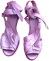 Hermes Pink Leather Sandals