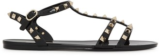Valentino Garavani Black Studded Sandals
