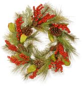 National Tree Company 24-in. Artificial Bristle & Berry Christmas Wreath