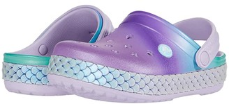 Crocs Crocbandtm Mermaid Metallic Clog (Toddler/Little Kid) (Lavender) Girl's Shoes