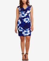 Lauren Ralph Lauren Plus Size Floral-Print Cowl Neck Dress