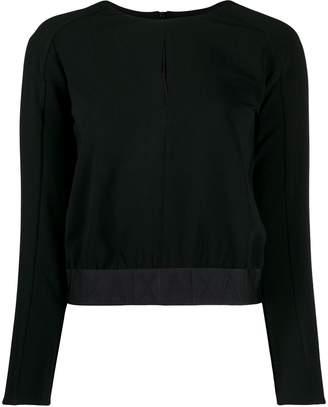 Armani Exchange logo waistband jumper